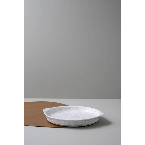 Helga Round Serving Plate (Speckled White)