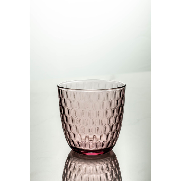 Slot Water Glass 290ml (Lilac Rose)
