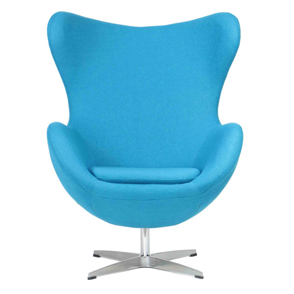 Designer replica egg chair in blue furniture home for Imitation designer chairs