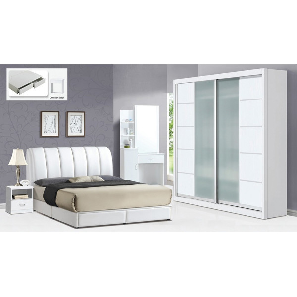 5 Piece Bed Room Set BRS8010 White