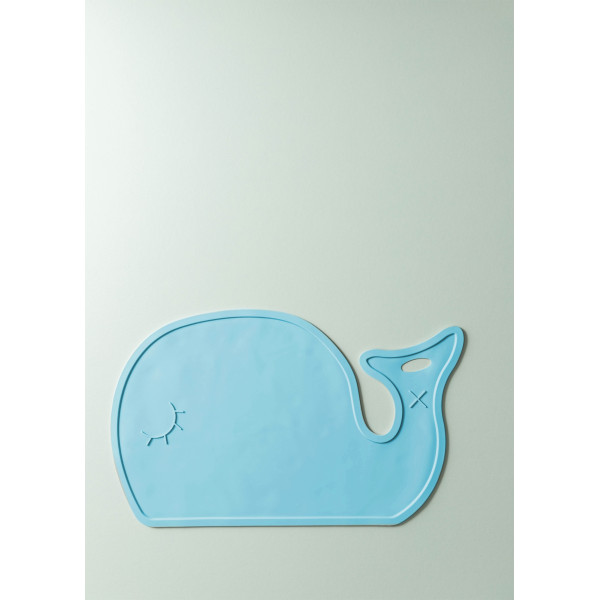 Maris Silicone Whale Placemat (Sky Blue)