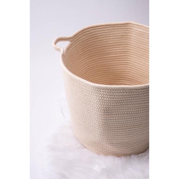 Gwendal Cotton Rope Basket in Beige