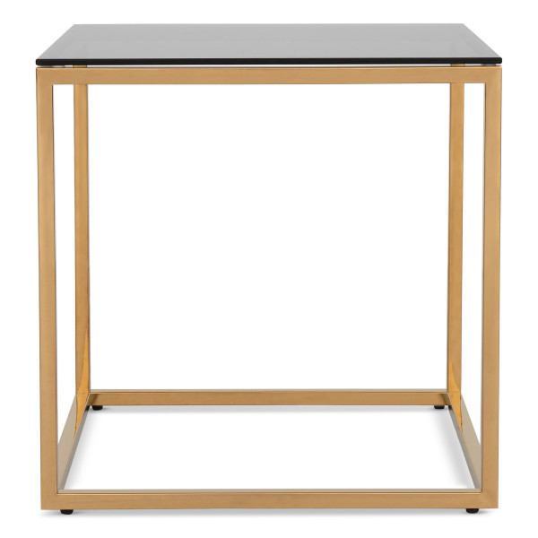 Opal Side Table with Gold Legs