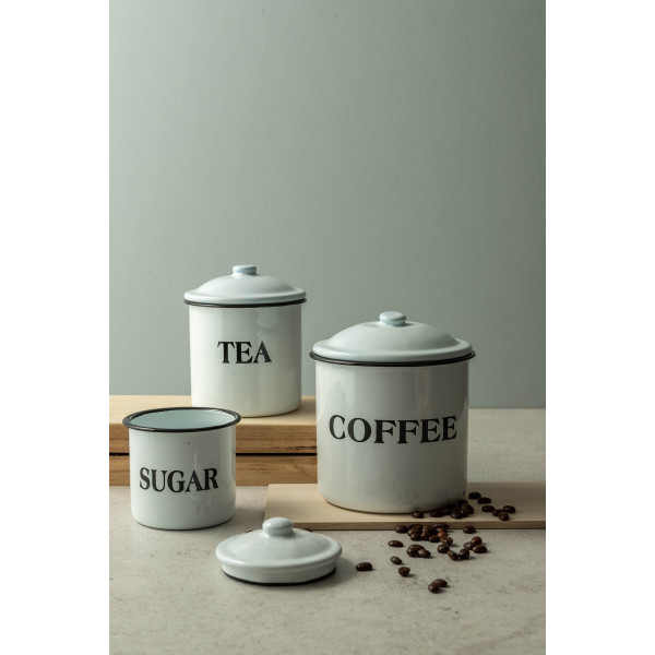 Moni Containers, Set of 3 (White/Black)