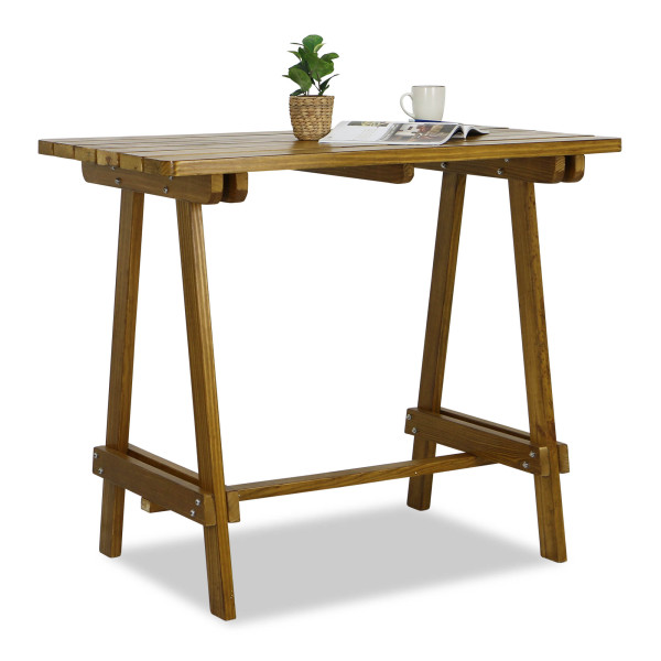 Apache Wooden Bar Table