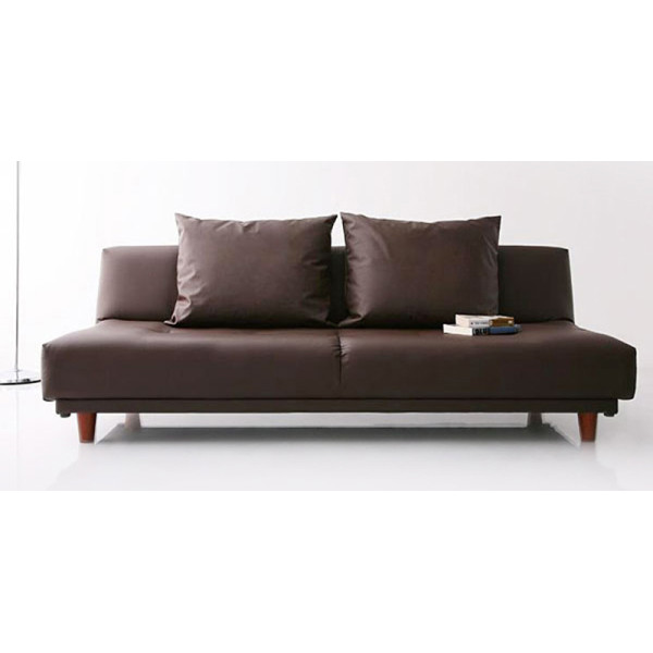 Sweden Sofa Bed (PVC Brown)