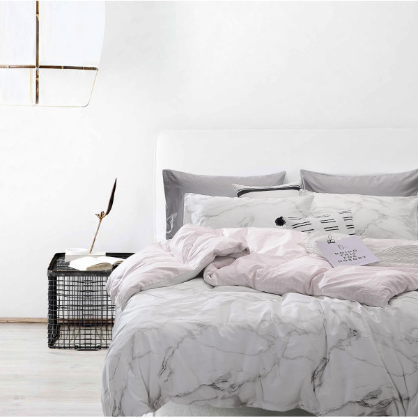 Bedding Day 100% Cotton Sateen 800TC Fitted Sheet Set - Carrara