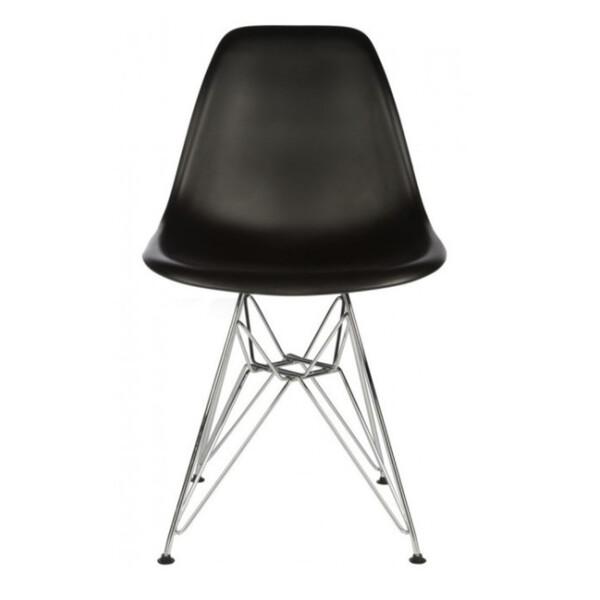 Eames Replica Chair with Steel Eiffel Legs (Black)