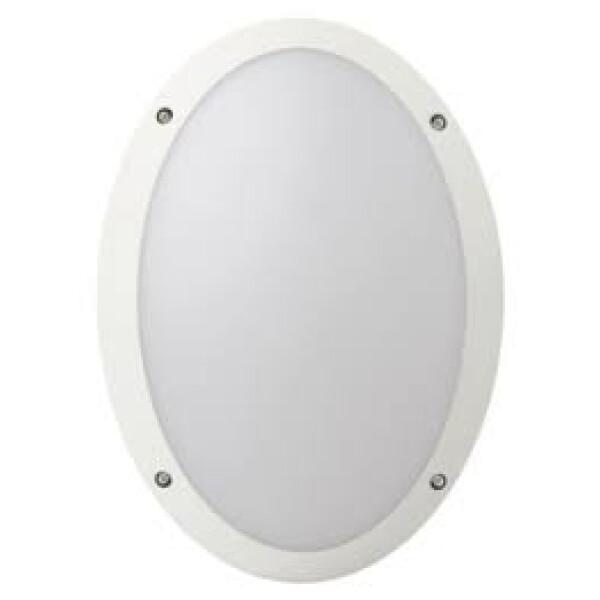 Megaman FONDA 10.5w (White) Oval Outdoor Bulkhead / 3000K / Warmwhite