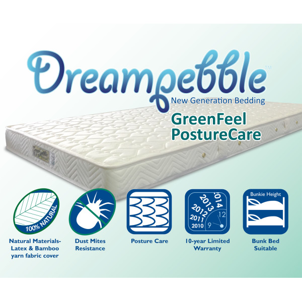 Dreampebble GreenFeel PostureCare Spring Mattress
