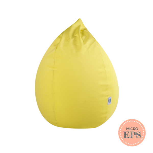 Dropzzz spandex bean bag by SG Beans (Yellow, Micro EPS beans filling)