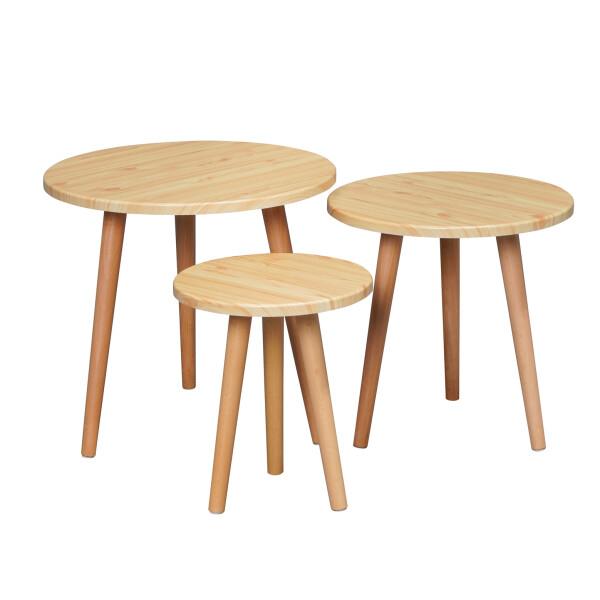 Eaimor Coffee Table Set Oak