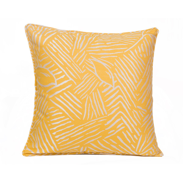 Abstract (Mustard) 45 x 45cm Cushion with Fill