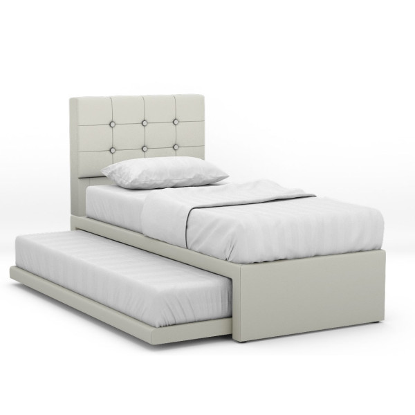 Runin 2 In 1 Faux Leather Bed (Single)