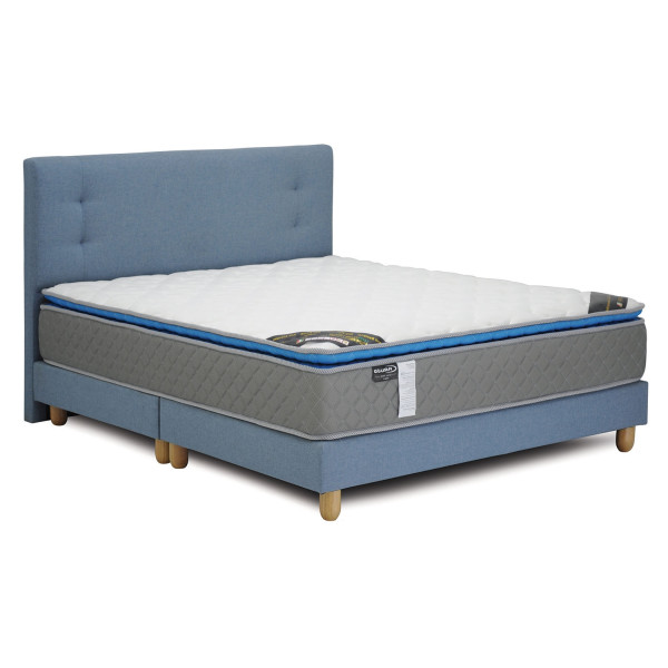 Caruso Package: Caruso Latex Spring Mattress + Suri BedFrame (Queen Sized, Light Blue)