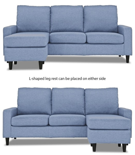 Ejiro L Shape Sofa In Denim Blue Furniture Home Decor Fortytwo