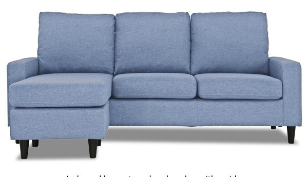 Ejiro L Shape Sofa In Denim Blue