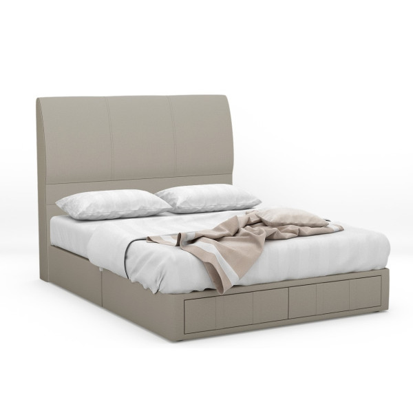 Vonda Fabric Drawer Bed Frame