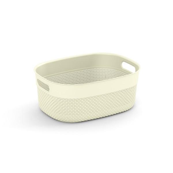 Filo Basket M W/Lid (Romantic Ivory)