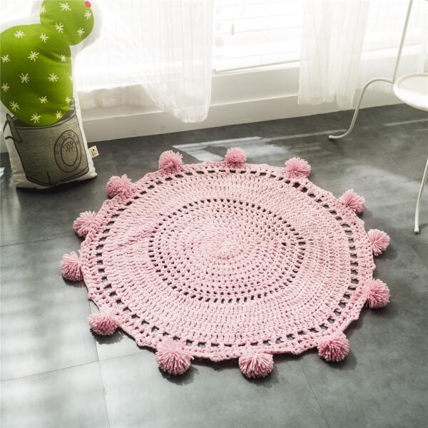 Delcy Floor Mat (Pink)