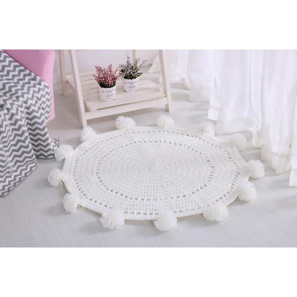 Delcy Floor Mat (White)