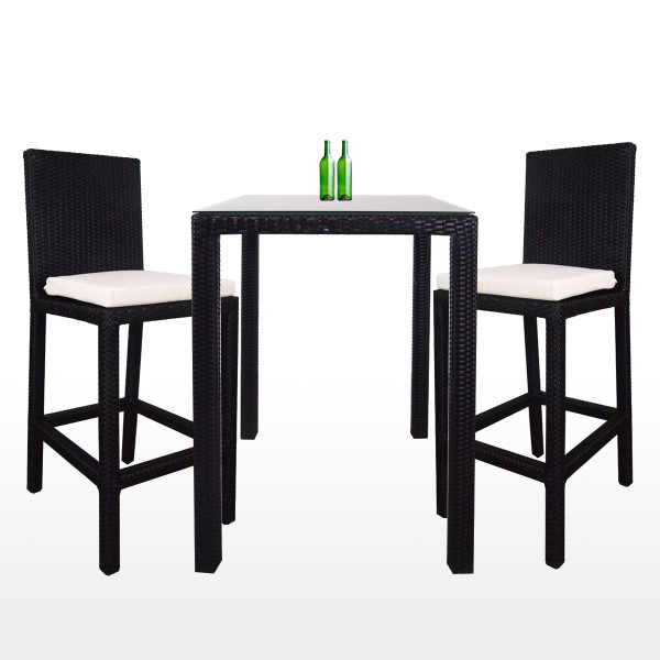 Midas 2 Chair Bar Set White Cushion Furniture Home D Cor Fortytwo
