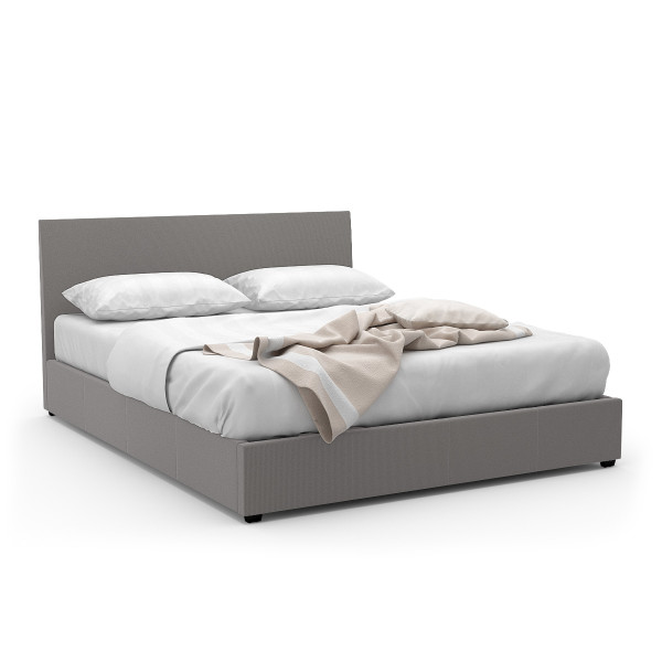 Foster Queen-Sized Storage Bed  (Fabric Grey)