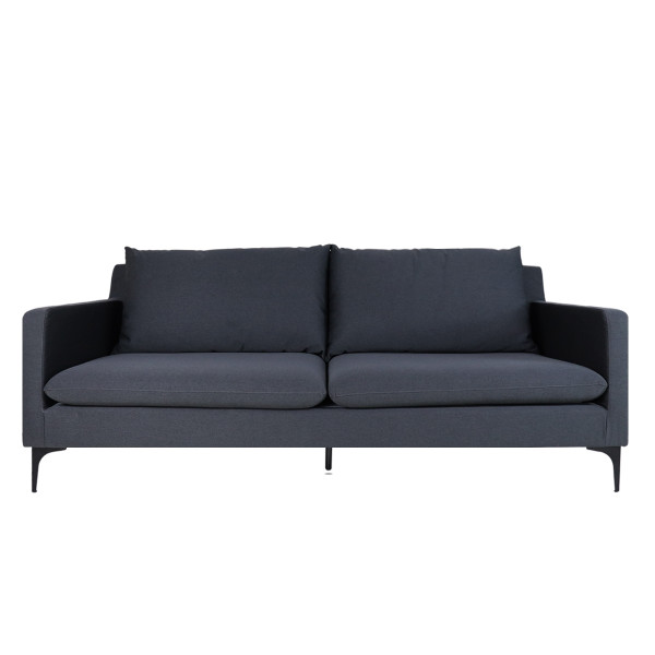 Hayley 3 Seater Sofa, Dark Grey