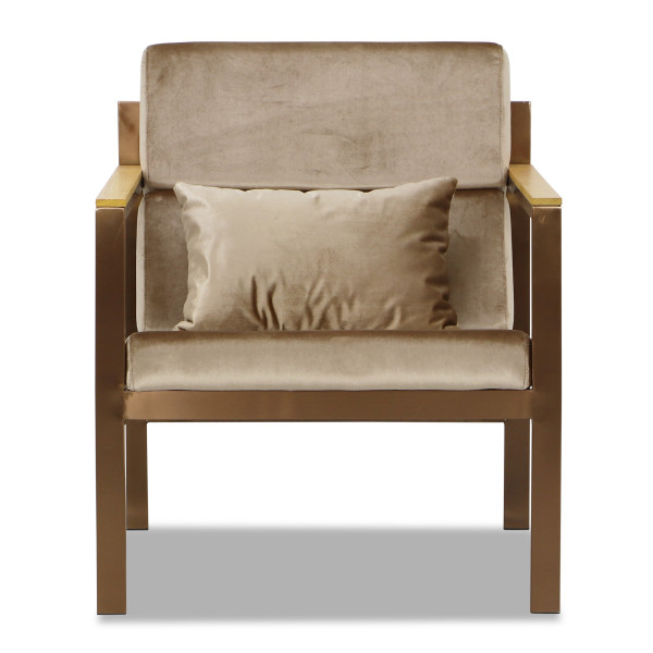 Hayun Armchair in Light Brown
