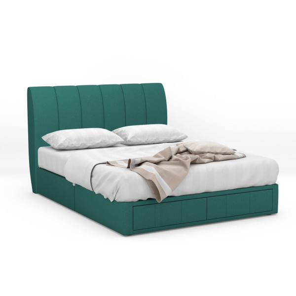 Claude Fabric Drawer Bed Frame