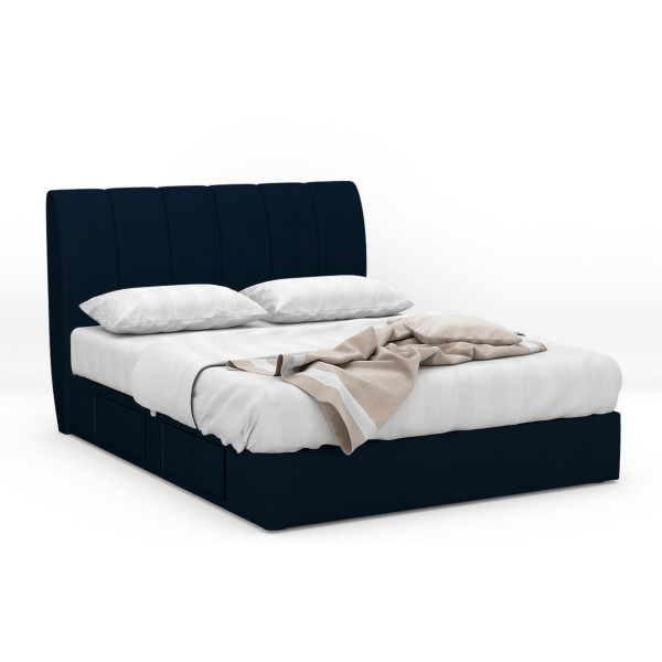 Sancom Fabric Drawer Bed Frame