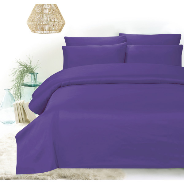Hillcrest - Comfylux Solid 900TC Fitted Sheet Set - Ultra Violet