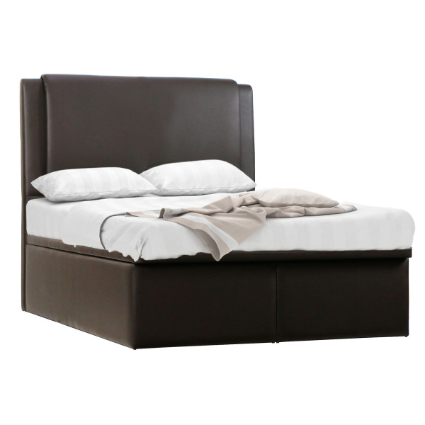 Mavin Storage Bedframe In Dark Brown