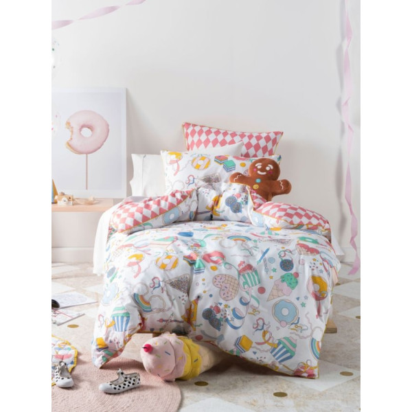 Australia Hiccups Kids Bed Set - Party Time (Super Single)