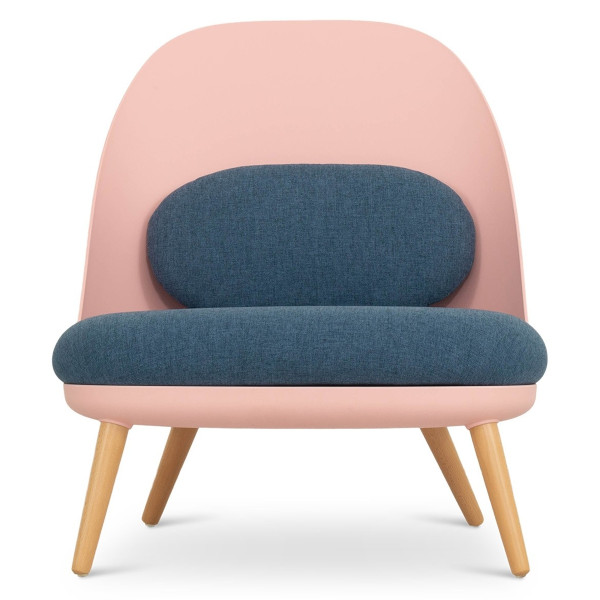 Aldora Chair in Pink and Cobalt