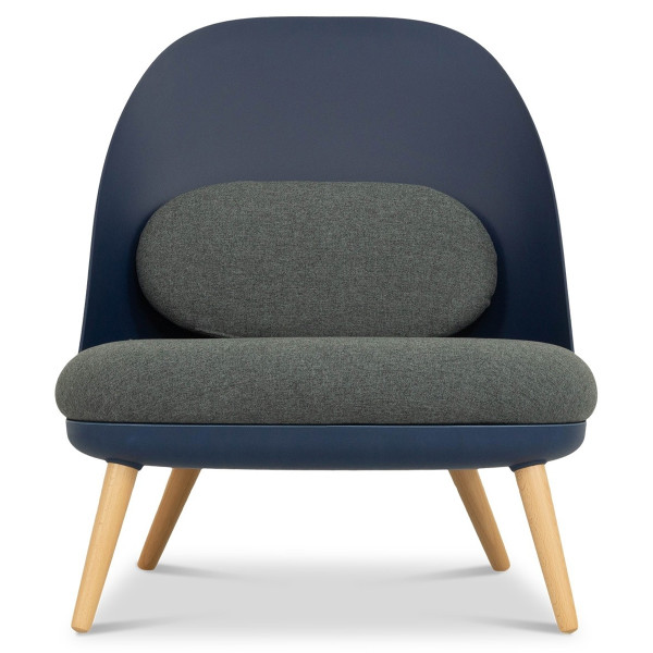 Aldora Chair in Navy and Charcoal