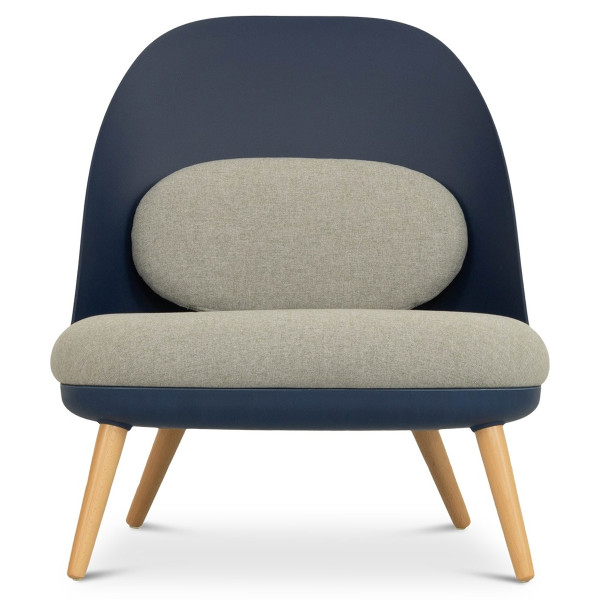 Aldora Chair in Navy and Light Grey