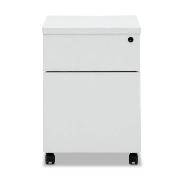 Mylene 1 Drawer & 1 File Pedestal (White)