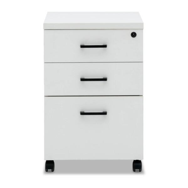 Muriel 2 Drawers & 1 File Pedestal (White)