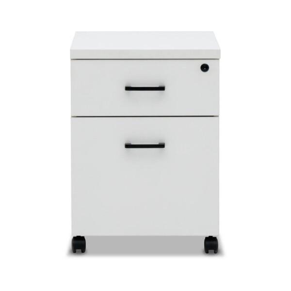 Muriel 1 Drawer & 1 File Pedestal (White)