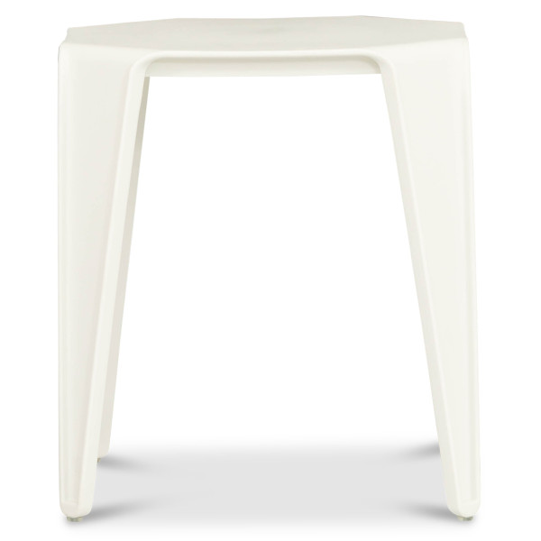 Barric Side Table in White