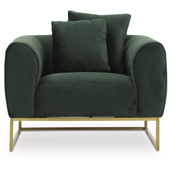 Marican 1 Seater Velvet Sofa in Green