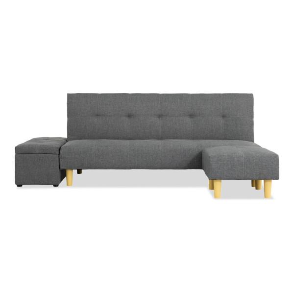 Wongg 4 Seater Sofa Bed Set (Fabric Grey)