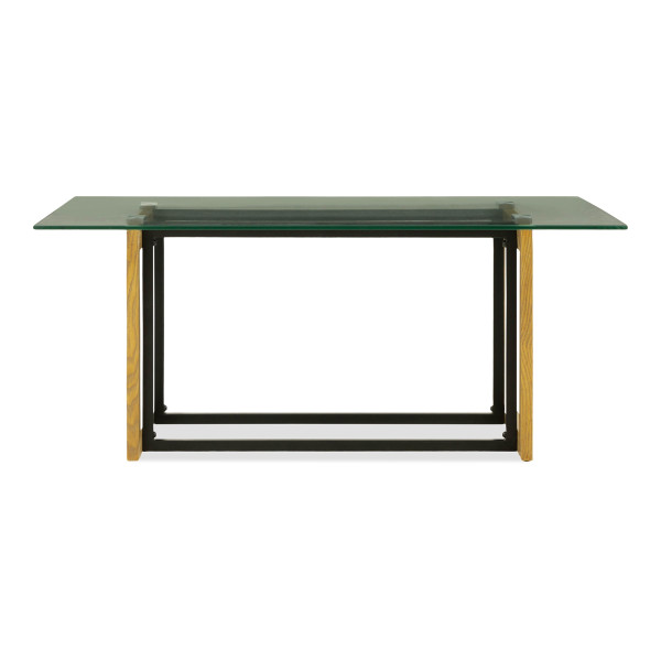 Katrin Glass Coffee Table In Oak