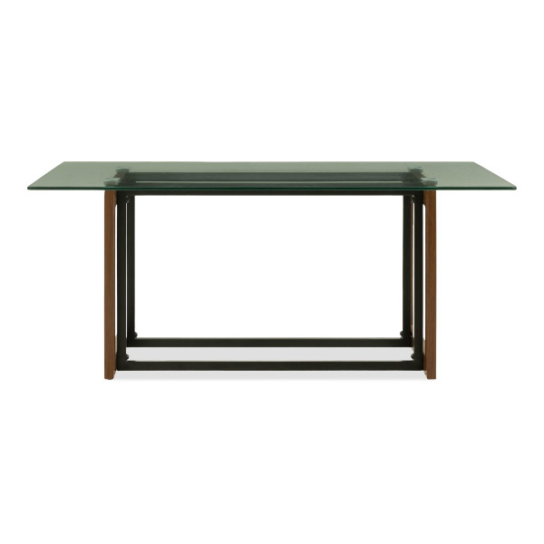 Katrin Glass Coffee Table In Wood