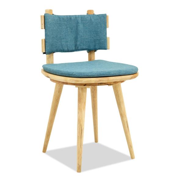 Balletti Cushioned Swivel Chair (Blue)