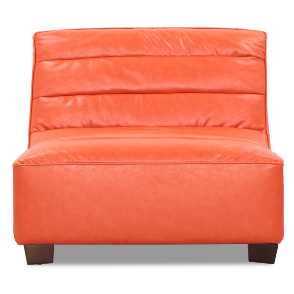 Anara 1 Seater in Vintage PU Orange