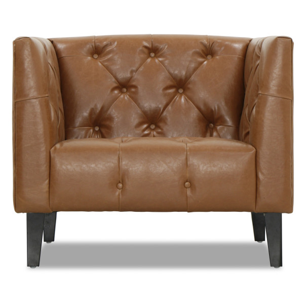 Ellis 1 Seater in Brown PU