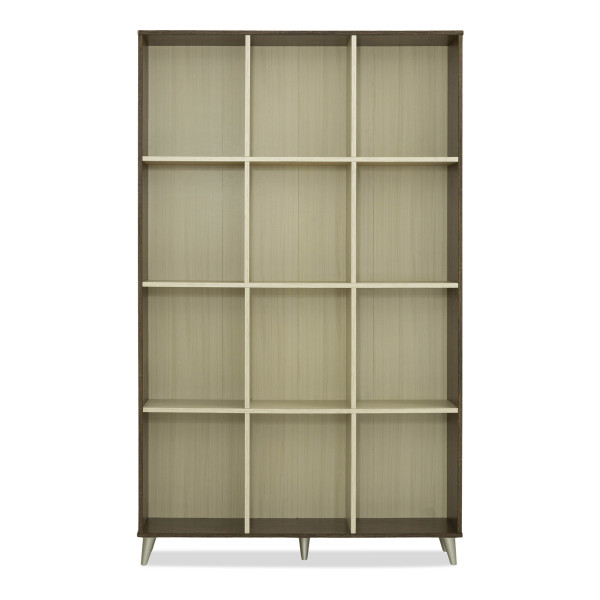 Ellia Bookshelf in Walnut-White