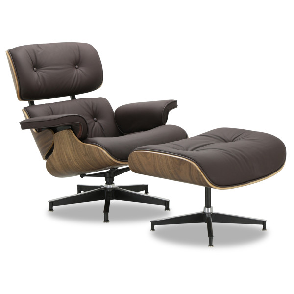 Eames Replica Lounge Chair (Dark Brown Leather)